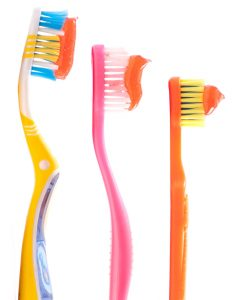 Dental Topics on Brushing and Flossing Children's Teeth toothbrush sizes and toothpaste amount