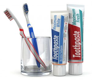 Brushing and Flossing Children's Teeth with choosing toothpaste and brushes